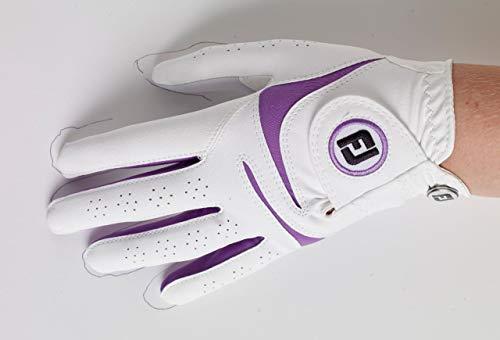 Footjoy weathersof Gant de Golf, Femme S Blanc/Violet