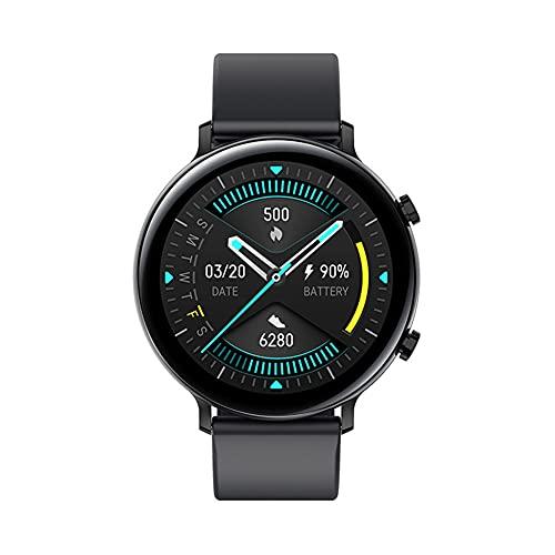 XJPB Smart Watch, compatible con teléfonos Android y iOS, IP68, impermeable, monitor de actividad física, monitor de frecuencia cardíaca, reloj inteligente para hombres y mujeres, color negro