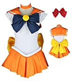 YOUYI Sailor Moon Sailor Venus Halloween Cosplay Costume Aino Minako Cosplay Wig Halloween (XXL)