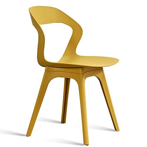 JIEER-C stoelen, modern design, eetkamerstoelen, rugleuning voor woonkamer, gemaakt van milieuvriendelijk PP-materiaal, milieuvriendelijk, bureaustoel, meerkleurig design (kleur: wit) beige