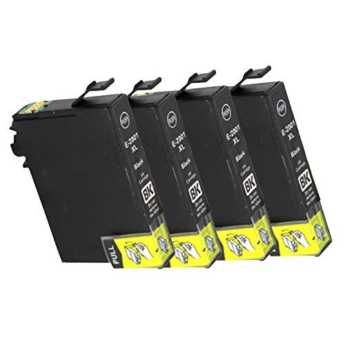 Cartucho de tinta 200XL, de alto rendimiento para impresoras Lexmark Pro4000c Pro4000 Pro5500 Pro5500t cartuchos de tinta compatibles 4 colores negro x 4