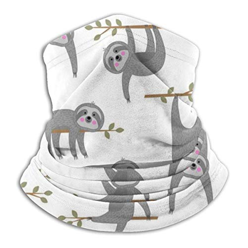 Lzz-Shop motief op witte achtergrond, buisvormige doek, sportsjaal voor het gezicht.