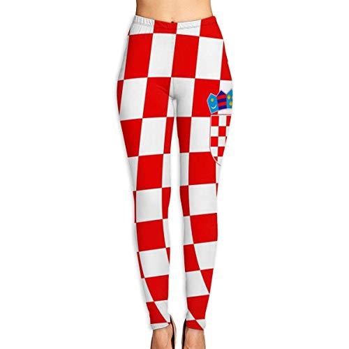 Abusss Sportswear-Strumpfhosen Leggings für Damen, Croatia Check Women's High Waist Yoga Pants Tummy Control Workout Leggings