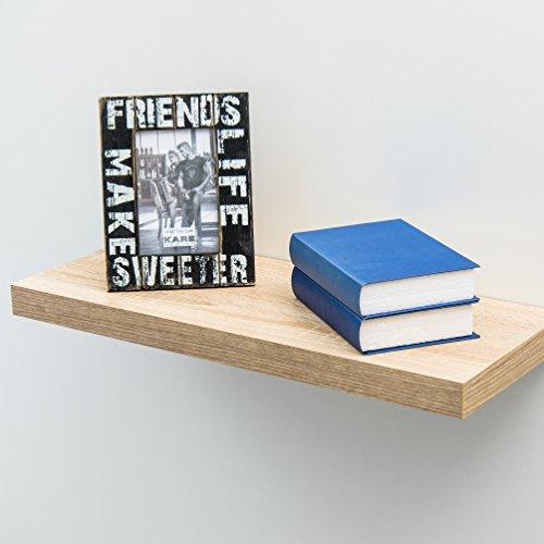 deine-tante-emma Steckboard Wandboard Hängeregal Wandregal Eiche Sägerau Dekor 35 cm