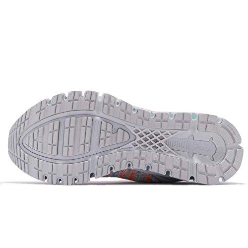 Asics Gel-Quantum 360 Knit 2, Zapatillas de Running Mujer, Multicolor (Glacier Grey/Orange Pop/Aruba Blue 9609), 42 EU