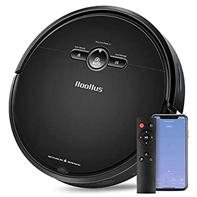 IIooIIus Robot Vacuum, 2000Pa Robotic Vacuum Cleaner, 110Mins Run Time, Automatic Self-Charging, Quiet Multiple Cleaning Modes, Best for Pet Hair, Hard Floor and Low Pile Carpet