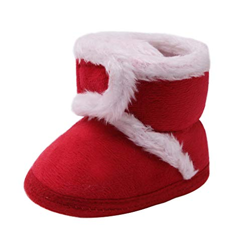 Shan-S Infant Newborn Toddler Baby Boy Girls Cashmere Plush Winter Soft Crib Boots Bandage Warm Shoes Booties