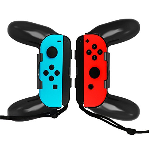 WindTeco Nintendo Switch Joy-Con Grip, [2 unidades] Ultimate Comfort Grip para Nintendo Control Joy-Cons Left & Right Controllers, Negro