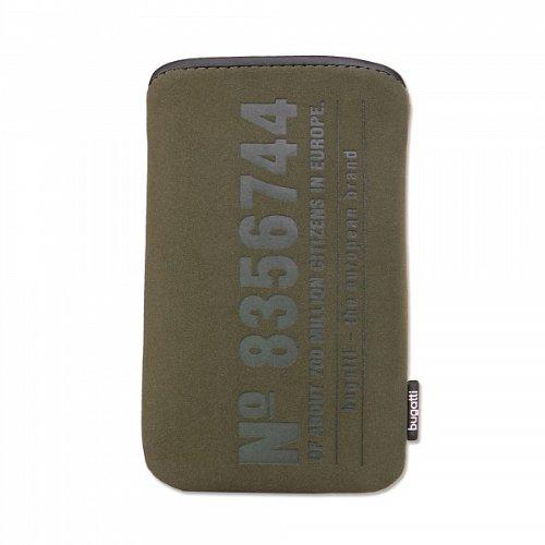 Bugatti SlimCase Olive Handytasche Größe M