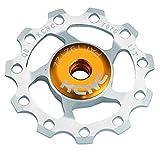 KCNC 自転車 軽量 ベアリング内蔵 ディレーラーパーツ ジョッキーホイール 11T プーリー 11S/10S/9S シルバー 304383