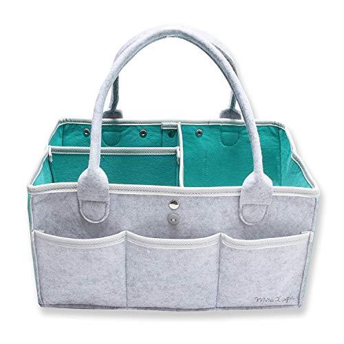 [WhiteLapin株式会社] オムツストッカー おむつストッカー 収納ケース おもちゃ入れ収納 (ミントグリーン, プレゼント用BOX無)