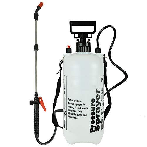 ASAB Garden Pressure Sprayer Knapsack Weedkiller Chemical Fence Hand Pump Water Spray Bottle - 8L Pump Sprayer