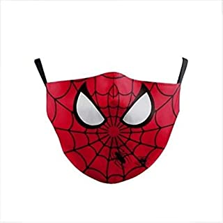 Marvel Kids Face Mask With Carbon Filter - Ultra-Comfortable, Reusable, Portable, Fold-able Lightweight