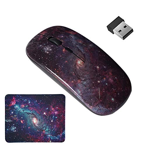 LIZIMANDU Gaming Mouse and Mouse Pad Set,Wireless Computer Mouse   Mouse Pad for Home, Office(L2-Star Night)