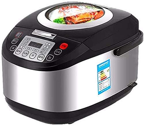 Panduo Küchenbedarf, Topf Reiskocher, 5L Reiskocher Rises 4-6 Personen Große Kapazität Smart-Schiebedach Haushalt Reiskocher Schwarz 2020 Arroceras