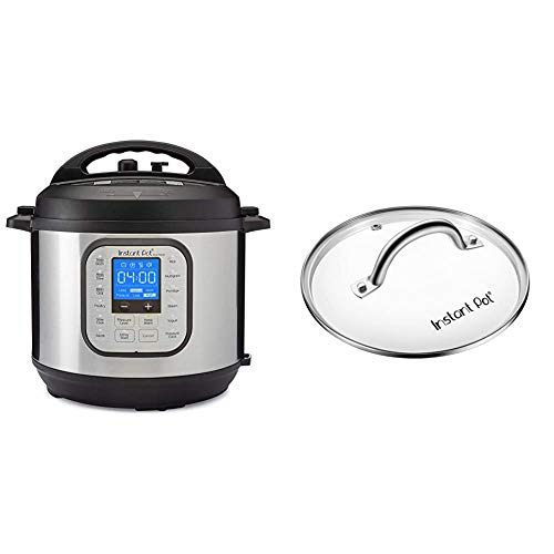 Instant Pot Duo Nova 7-in-1 Electric Pressure Cooker, Slow Cooker, Rice Cooker, Steamer, Saute, Yogurt Maker, 14 One-Touch Programs & Tempered Glass Lid, 9 in. (23 cm), 6 Quart, Clear