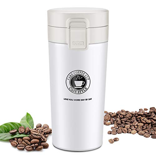 JEEZAO 380 ml Tazza Termica Viaggio caffè Thermos Bottiglia Acqua, Borraccia Acciaio Inox,Senza BPA
