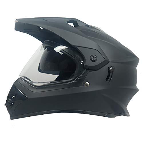 Steelbird Off Road Motocross Helmet with Double Visor (Large 600 MM, Matt...