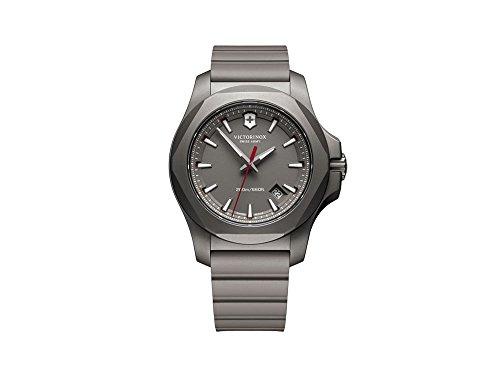 Victorinox INOX Reloj para Hombre Analógico de Cuarzo con Brazalete de Goma V241757