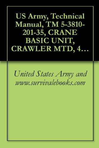 US Army, Technical Manual, TM 5-3810-201-35, CRANE BASIC UNIT, CRAWLER MTD, 40-TON, 2 CU YD, DIESEL DRIVEN (HARNIS ENGINE MODEL 687C-18-ES) W/CATERPILLAR ... (3810-786-5200) (English Edition)