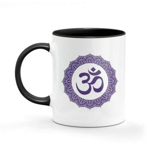11Oz Funny Ceramic Mug- Mandala Yoga Hippie Hippie Mug Dad Mum Funny Coffee Gifts Cups, Unique Ceramic Novelty Gift For Women Men White Mug
