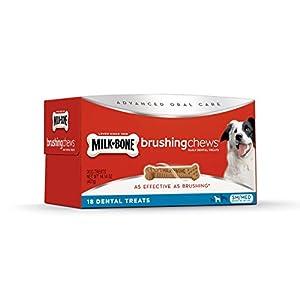 Milk-Bone Brushing Chews Daily Dental Dog Treats, Small/Medium, 18 Count