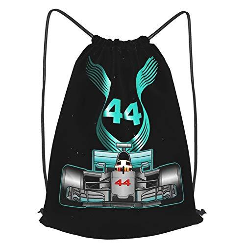 Crazy Caa Racing Driver Champio Le-Wis Hamilton 44 Mens Gym Unisex Drawstring Backpack Sports Bag Rope Bag Big Bag Drawstring Tote Bag Gym Backpack