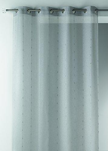 Home Maison hm6945298 gordijn, etamine geweven breed polyester 200 x 260 cm, grijs, 200 x 260 cm