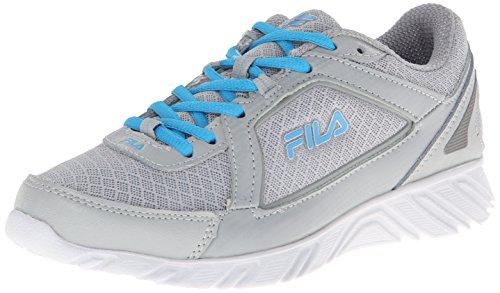 FILA Damen-Laufschuh Finest Hour 4, Grau (Highrise/ätherisches blau/dunkelsilber), 40 EU