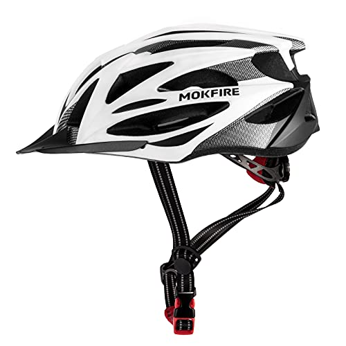 Adult Bike Helmet with Rechargeable USB Rear Light, Adjustable Mountain & Road Cycling Helmet with Detachable Visor, Lightweight Bicycle Helmets for Adults Men and Women Cycle Bike Helmet