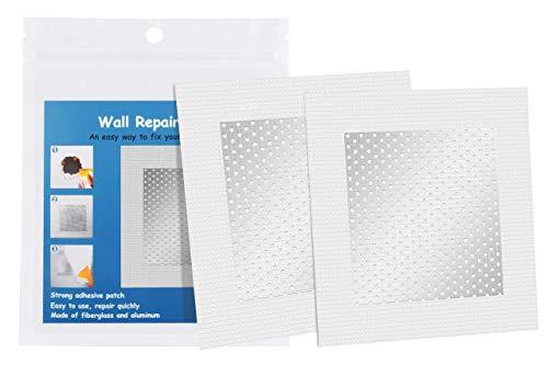 Drywall Repair Patch, Fiberglass Wall Repair Patch Kit Self Adhesive, High Strength Fix Large Hole Plaster Wall Repair Patch (4 inch, 6 PCS)