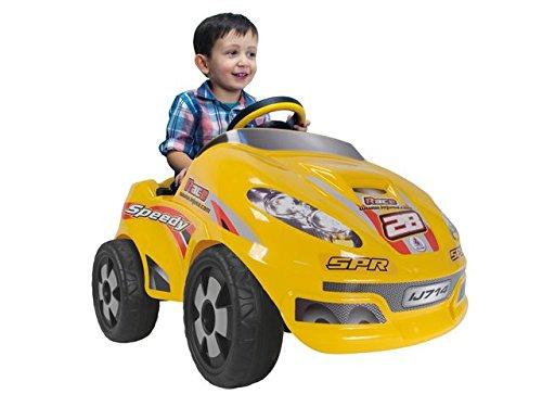 INJUSA - Coche Speedy Car 6 V, Color Amarillo (714)