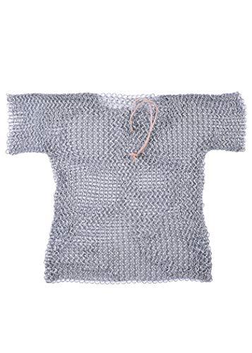 Battle-Merchant Rostfreies Kettenhemd für Kinder aus verzinktem Stahl (Silber/128)