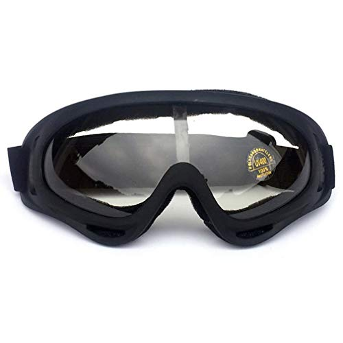 X400 Anti-condens Mirrored Lens Snowboard Sneeuwbril voor Heren Dames Jeugd Zwart frame transparant