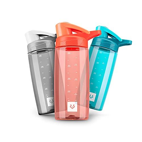 Alphatrail Botella Agua Tritan Dirk 550ml Naranja 100% Prueba de Fugas I sin BPA & Ecológicamente I Seguro Lavavajillas I Abertura para Beber Funcional para una óptima hidratación Durante el Deporte
