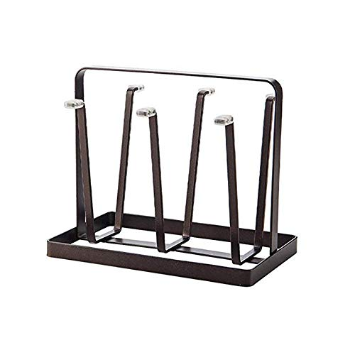 Dream-cool Stainless Steel Coffee Cup Holder Hanging Nail-Free partizione Cup Holder Innovativo Cucina Forniture Storage Rack Ferro Cup mensola Supporto per Cucina contatore Nero