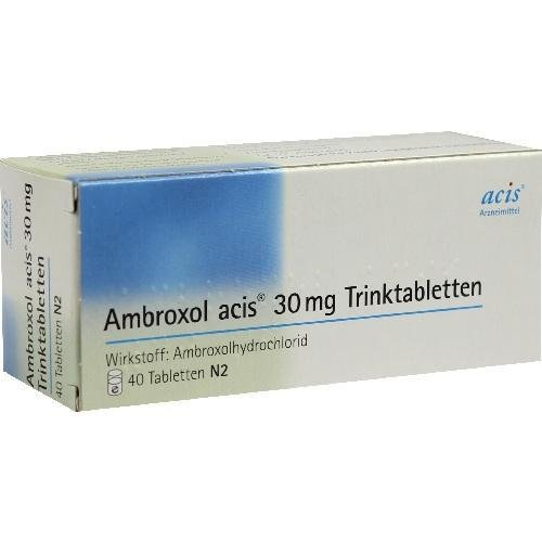 AMBROXOL acis 30 mg Trinktabletten 40 St