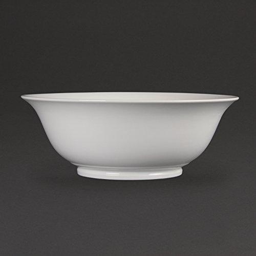 Olympia Grand saladier en porcelaine blanche 330 mm