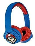 OTL Technologies - Auricular inalambrico Bluetooth para niños Rojo y Azul Super Mario (Android)