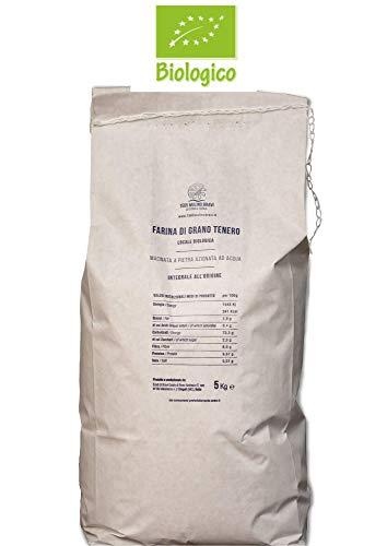Farina integrale biologica di grano tenero macinata a pietra - 2 sacchi da 5 kg