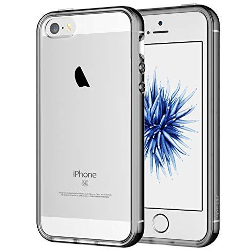 JETech Cover Compatibile iPhone SE 2016 (Non Compatibile 2020) / 5s / 5, Custodia con Paraurti Assorbimento degli Urti e Anti-Graffio, Grigio
