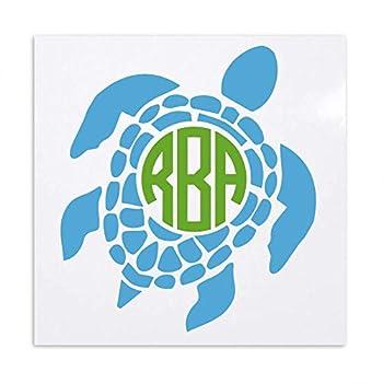 Best turtle monogram decal Reviews