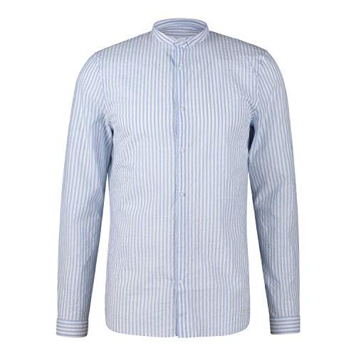 Nowadays Hemd mit Streifenmuster blau (673 Zen Blue) XXL