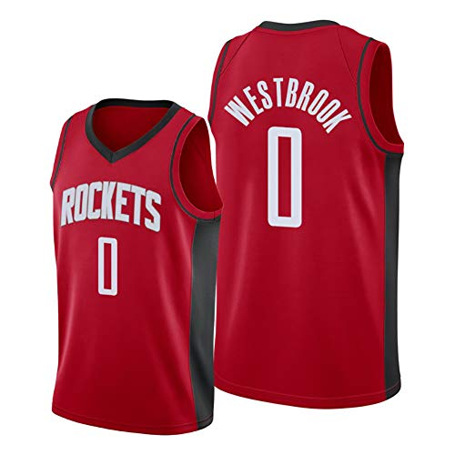 Westbrook Rockets # 0 - Camiseta de baloncesto para hombre, sin mangas, deportiva, clásica, de malla, para regalo, S-XXL