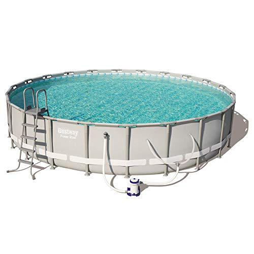 Bestway Power Steel 22in x 4.3ft Above Ground Swimming Pool w/Pump & Filter