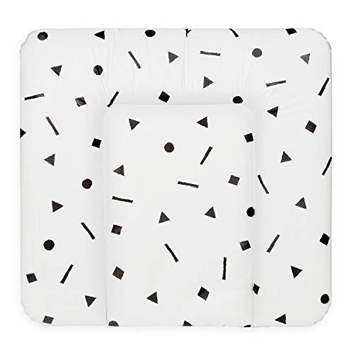 Bonky Wickelauflage weiche Wickelunterlage Baby Wickeltischauflage Abwaschbar - 70x75 Geometrie