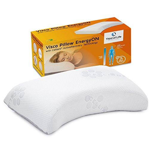 Seitenschläferkissen EnergyON | Regenerations-Nackenstützkissen mit Celliant-Tech-Bezug für die Erholung im Schlaf, klinisch getestet | Höhenverstellbares Nacken-Kissen für Sportler & Leistungsträger