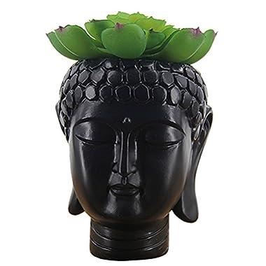 Buddha Planter Buddha Head Flower Pot The Talking Fruit Hand Painted Windowsill Planter Pot for Succulent- 4 inch,Cacti,Indoor Pots