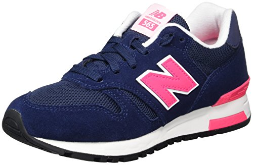 New Balance Damen 565 Sneaker, Blau (Navy/Pink), 37 EU