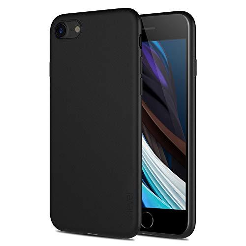 X-level Cover iPhone SE 2020, Cover iPhone 8, Cover iPhone 7, Ultra Sottile e Morbido TPU Protettiva Case Silicone Rubber Protezione Custodia Cover per iPhone SE 2020/8/7 (4.7 Pollici), Nero